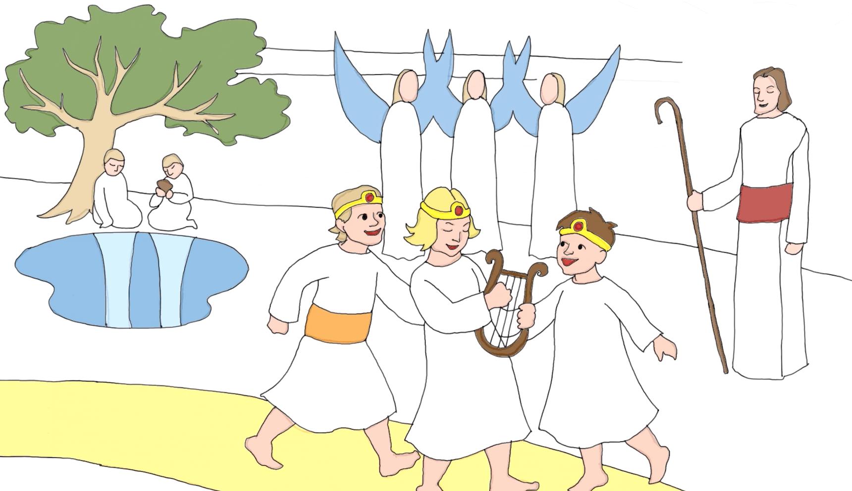 Onpa taivaassa tarjona lapsillekin