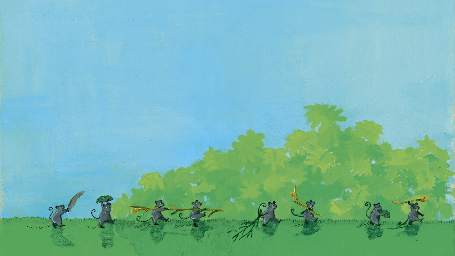 Juoksee metsähiiroset